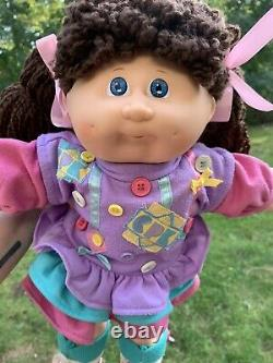 Cabbage Patch Kids Designer Line Doll Wearing HTF Button Dress
