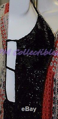 Cache Vintage Black Beaded Gown Evening Party Fully Lined EUC FOR YOSHI GOFUNDME