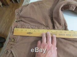 Carhartt Jeans Duck Lined Vintage Late 1940's Heart suspender buttons Inv#4364
