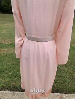 Carolina Herrera Studio Vintage Pink Asymmetrical Deadstock Jackie O Dress