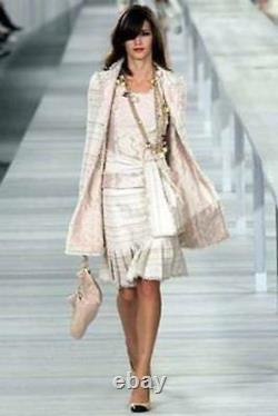 Chanel Iconic Vintage Jacket And Skirt With Sash Dress Sz Fr 34