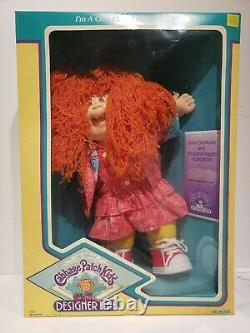 Coleco 1988 Designer Line Cabbage Patch Kids Doll Papers NIB Marjorie Murielle