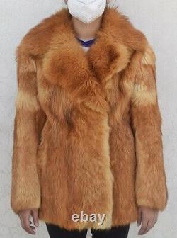 Coyote Fur Coat Alaskan Genuine COWBOY Farmer Vintage MAN MEN FUR Chest 40