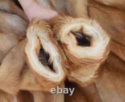 Coyote Fur Coat Mens Fur Coat Real Natural Vintage Alaskan Pelt Chest 46