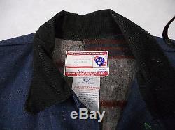DENIM CHORE COAT Vintage Blue Top Denim Troy Blanket Lined Barn Work Jacket 1930