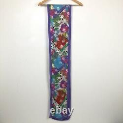 DIANE FREIS Vintage 80's Lined Frilly Sleeveless Floral Dress & Belt Size 8 10