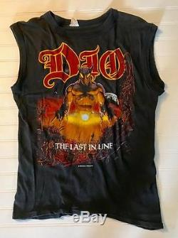 DIO 1984 LAST IN LINE T-SHIRT Heavy Metal Metallica SLAYER ORIGINAL SUPER Rare