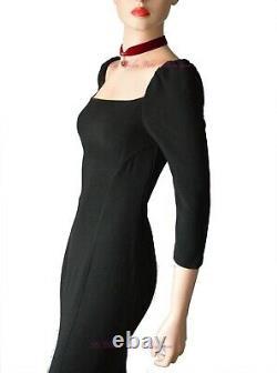 DOLCE & GABBANA DG vintage 90s black pencil 1950s pinup DRESS size UK 8 USA 4 40
