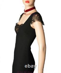 DOLCE & GABBANA DG vintage black nude lace 1950s pinup DRESS size UK 8 USA 4 40