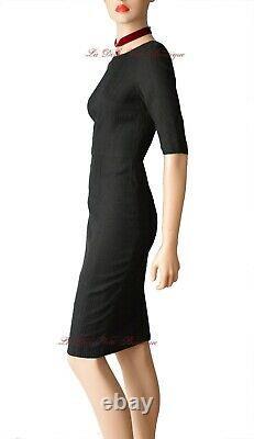 DOLCE & GABBANA vintage black pencil 1950s pinup DRESS size UK 8 USA 4 40 dg y2k