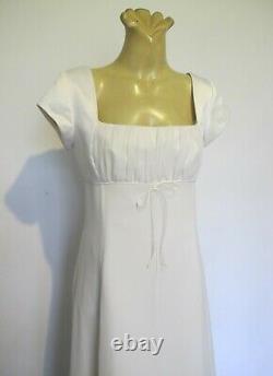 DRESS Ivory Cap sleeve Empire line Paco Sz 14 Wedding Formal 90s vintage Glamour