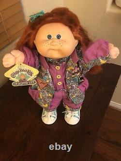 Designer Line Cabbage Patch Kid HM 18 Red Hair Freckles Fishy Mouth Clothes