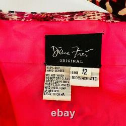Diane Freis Vintage Rare Dress Pure Silk Women's Size 12 Fully Lined