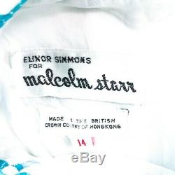 ELINOR SIMMONS x MALCOLM STARR VINTAGE MOD PRINT A-LINE DRESS SIZE 14