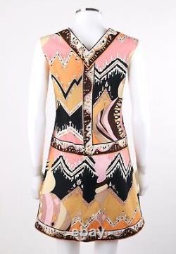 EMILIO PUCCI c. 1960's Mod Op Art Signature Print Sleeveless A-Line Dress