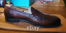 Edward Green Duke Lined Loafers Dark Oak Antique 8/8.5 Last E 137