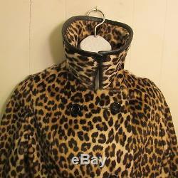 Faux Leopard Coat Swing Coat Kilimanjaro Sidney Blumenthul Vtg 60's Lined USA