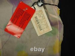 GIANNI VERSACE Couture silk dress vintage semi transparent mesh beige purple S M