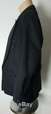 GIANNI VERSACE VINTAGE Black DRESS JACKET Medusa Lined Rhinestone Button TLC