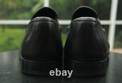GUCCI Men's Black Leather horse bit ribbon Dress shoes brand Size 43.5 US 10