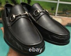 GUCCI Men's Brown Leather horse bit Dress shoes brand Size 10.5 US 10.5