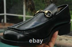 GUCCI Men's Deep black Leather TOM FORD ERA Dress shoes Size 9.5 D