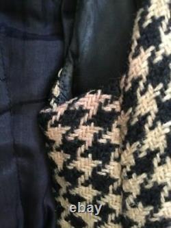 Geoffrey Beene Vintage Wool Houndstooth Skirt Jacket Set
