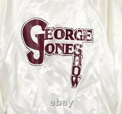 George Jones Show Tour Jacket Vintage Coat Bomber Lined Joe York Family LARGE