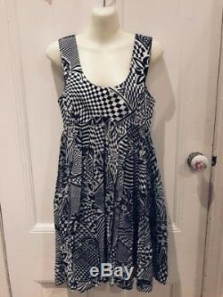Gianni Versace VersusDress Black and White Abstract Optical Vintage Rare 1990s