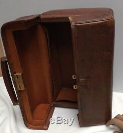 Gladstone Bag Antique Exceptional Condition C1890 Leather & Pigskin Line
