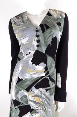 Hanae Mori Vtg 60s Womens M Medium Lily Flower Floral Dress Silk A-Line RARE EUC