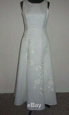 Harrods frank usher vintage cocktail dress with shawl fully lined crinoline 12 UK