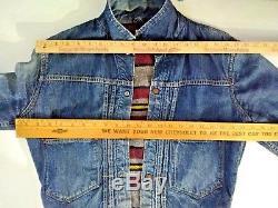 Hercules Blanket Lined Pleated! 950's Sears Denim Jacket Men's XS-S inv#S8197