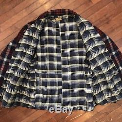 JC Penney Sportclad Flannel Lined Vintage 40s XL Wool Half-Belt Mackinaw Coat