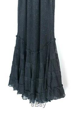 Jean Paul Gaultier Maille Womens Size Large Black Dress Lace Mesh Eyelet Vintage