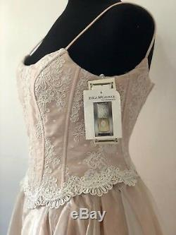 Jessica McClintock Vintage Spaghetti Dress Tulle A-line Gown Blush Sz 4 NWT