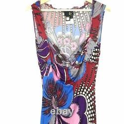 Just Cavalli Roberto Cavalli Dress Womens Vintage Floral A-Line Multicolor 4