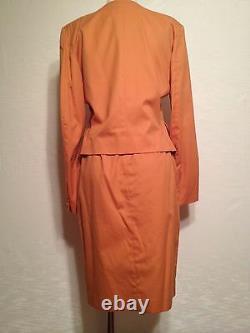 KENZO Paris Vintage cotton dress suit wrap skirt jacket France size 40 M 10 L