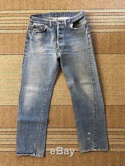 LAST DAY 60s Vintage Vtg Route 66 Levis Levis 501 Red Line Selvedge Jeans 32
