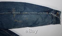 LEE Storm Rider 101 LJ Mens Size 38 Reg Denim Jacket Blanket Lined Vintage 1960s