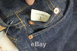 LEVI'S 302-0117 dead stock W26 L26 Big E Red Line Indigo Selvedge- Vintage NWT