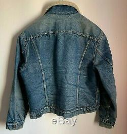 LEVI'S VINTAGE CLOTHING 60's TYPE III SHERPA LINED TRUCKER JACKET XL 44 CHEST