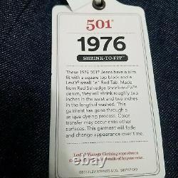 LEVIS 1976 LVC VINTAGE CLOTHING 501 Red line Selvedged Jeans 30x34 Not Big e