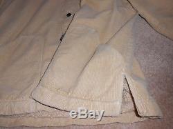 LEVIS VINTAGE CLOTHING Sherpa lined corduroy coat Beige S/M BIG E LVC