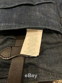 LEVIS X FILSON Tote Bag Rare Denim Tin Cloth Lining Awesome Vintage USA Leather