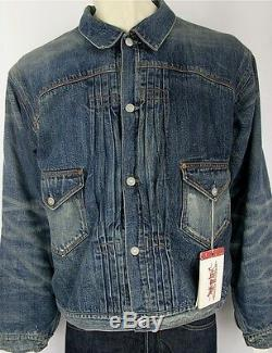 LVC Levis Vintage Clothing 1897 Blanket-Lined Pleated Blouse Jacket 705792382 L
