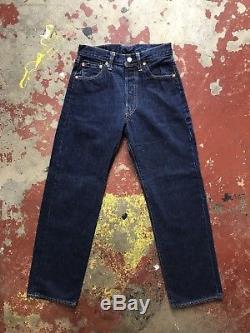 LVC Vintage Levi 501 XX E Red Line Selvedge Jeans, Hidden Rivets, Tag 29x32