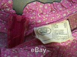 Laura Ashley vintage Jane Austen empire line pretty flower dress size 14