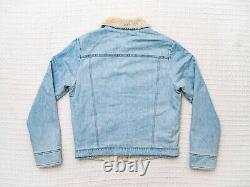 Levi's Vintage Clothing 1967 Sherpa Lined Denim Trucker Jacket Medium LVC BIG-E