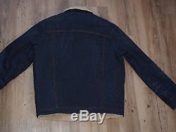 Levi's Vintage Clothing 1970's Sherpa Lined Trucker Jacket Gr. XL Orange Tab